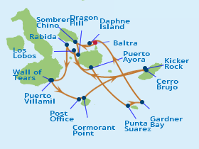 Celebrity Cruises | 16-Nights Galapagos Islands Southern Loop & Machu Picchu Iinerary Map