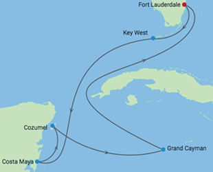 Celebrity Cruises | 7-Nights Western Caribbean Cruise Iinerary Map