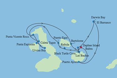Celebrity Cruises | 7-Night Galapagos Northern Loop Itinerary Iinerary Map