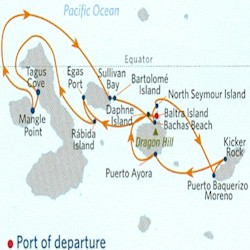 Celebrity Cruises | 11-Night Quito and Galapagos Islands Tour #1 Iinerary Map