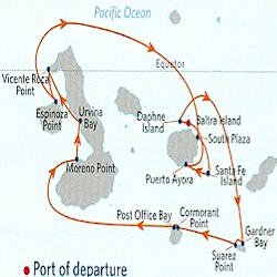 Celebrity Cruises | 11-Night Quito and Galapagos Islands Tour #2 Iinerary Map