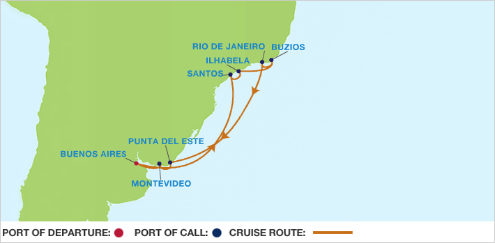 Celebrity Cruises | 14-Nights Roundtrip from Buenos Aires Cruise Iinerary Map