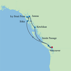 Celebrity Cruises | 7-Nights Roundtrip from Vancouver Cruise Iinerary Map