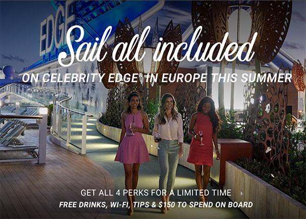 Celebrity Edge 4 free perks