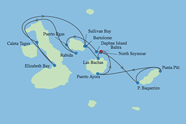 Celebrity Cruises | 11-Night Galapagos Inner Loop and Quito Tour Iinerary Map