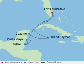 Celebrity Cruises | 7-Nights Roundtrip from Fort Lauderdale Cruise Iinerary Map