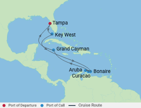 Celebrity Cruises   11-Nights Roundtrip from Tampa Cruise Iinerary Map