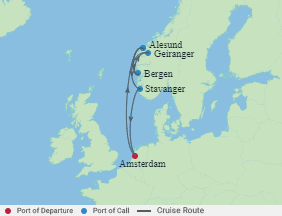 Celebrity Cruises | 7-Nights Roundtrip from Amsterdam Cruise Iinerary Map