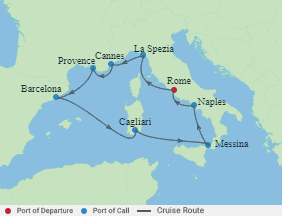 Celebrity Cruises | 10-Nights Roundtrip from Rome Cruise Iinerary Map