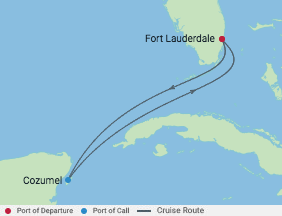 Celebrity Cruises   4-Nights Roundtrip from Fort Lauderdale Cruise Iinerary Map