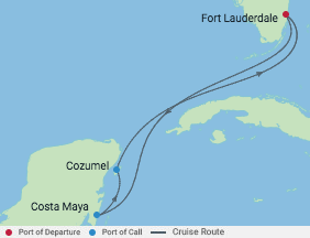 Celebrity Cruises | 5-Nights Roundtrip from Fort Lauderdale Cruise Iinerary Map